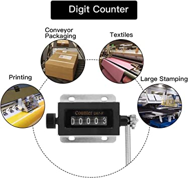 D67F 5 Digit Mechanical Resettable Manual Hand Pull type Stroke Tally Counter