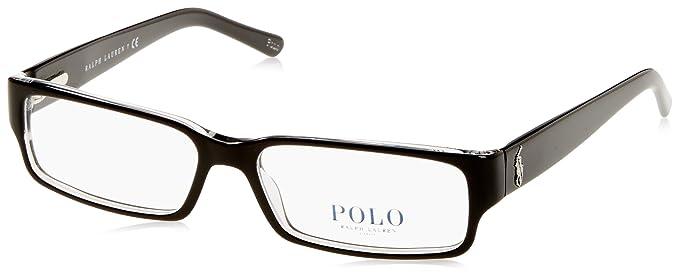 Ralph Lauren POLO 0PH2039 Monturas de gafas, Top Black/Crystal, 54 ...
