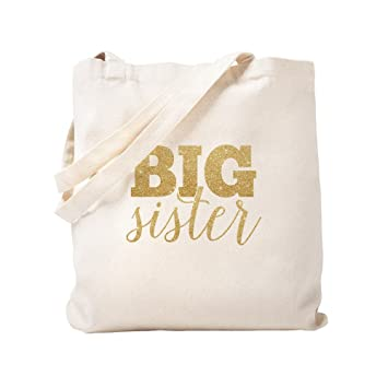 Amazon.com  CafePress - Glitter Big Sister - Natural Canvas Tote Bag ... 2ae357a4c7ea
