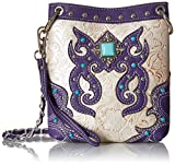 Cowgirl Trendy Petite Evening Bag Purse Faux Leather Western Purple