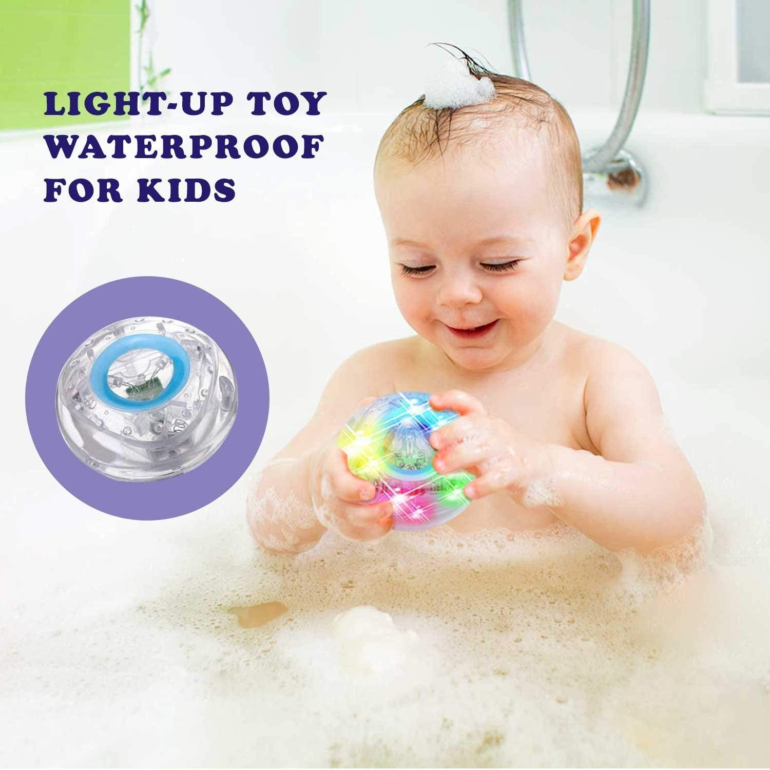 New Caseometry Upgraded Light-up Toy Waterproof for Kids Durable Floating Safe for Baby with Instruction Boys and Girls Toddler Toys Children Prime Water Gift Toys Educational Boat Pool Fun
