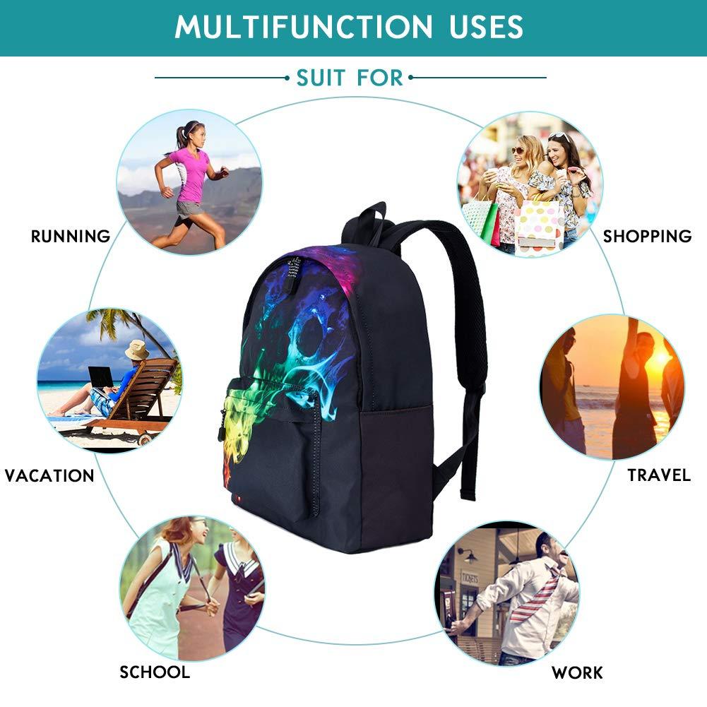 TUONROAD Schulrucksäcke Unisex Geometrie Daypack Laptop Tasche Backpack Freizeitrucksack Rucksack Schulrucksack