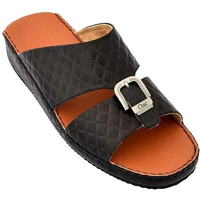 d57459291 Chic Shoes Black Comfort Sandals Sandal For Men: Amazon.ae