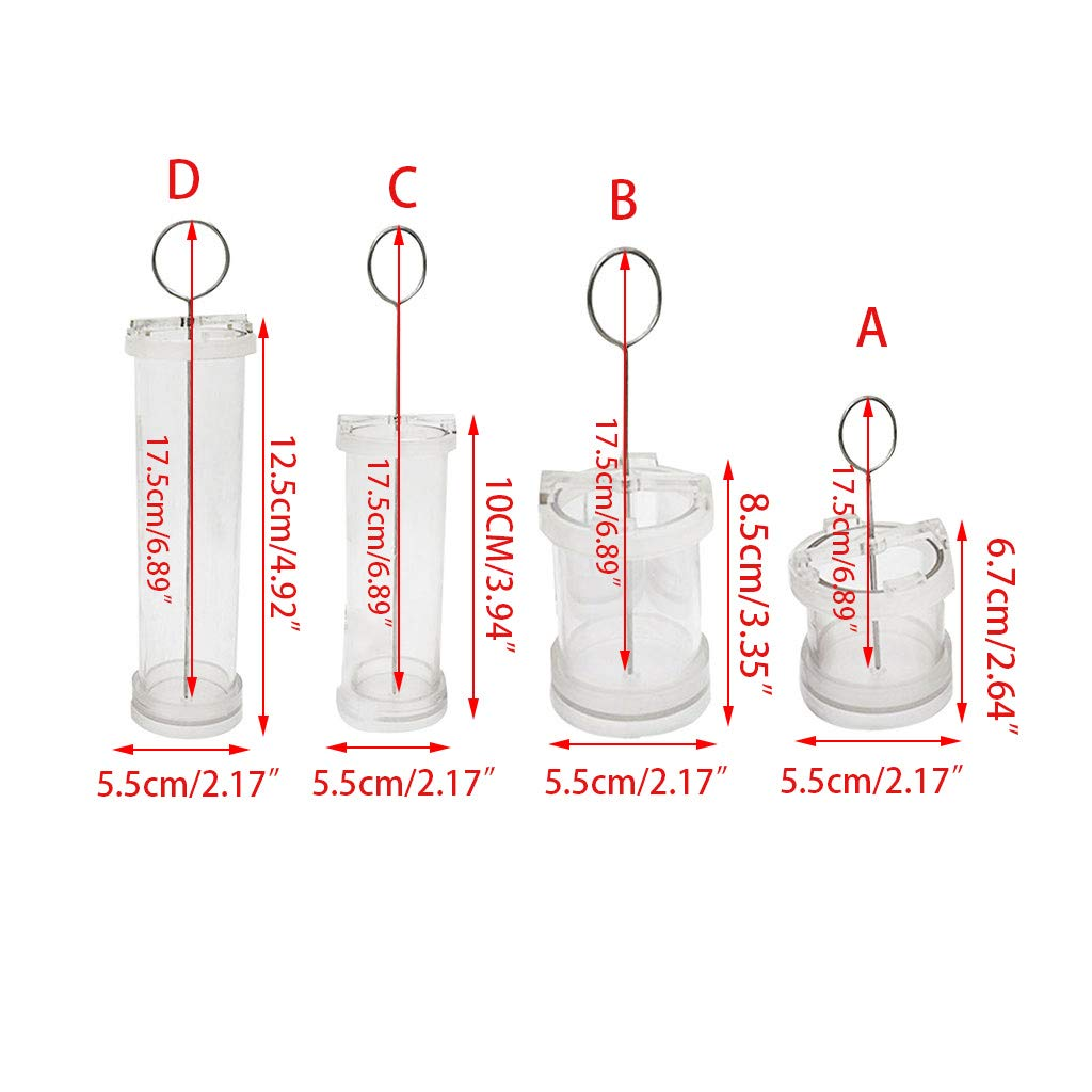 Cher9 4//6//8//10CM DIY Cylinder Shape Pillar Candle Making Wax Mold Handmade Craft Plastic Clear Manual Pouring Mould Stencil Accessories