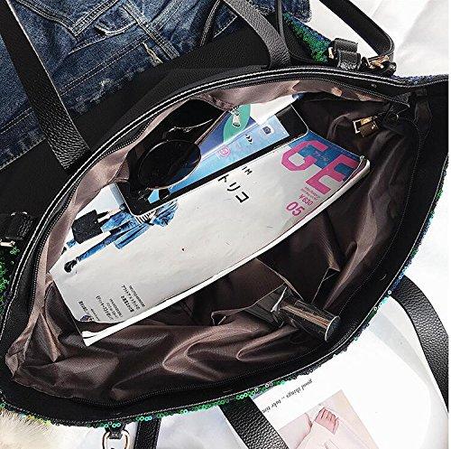à sac portatif capacité de de de nouveau d'emballage sac paillettes messager Sacs sac Green main d'épaule de mode grande de SqPWdO41w