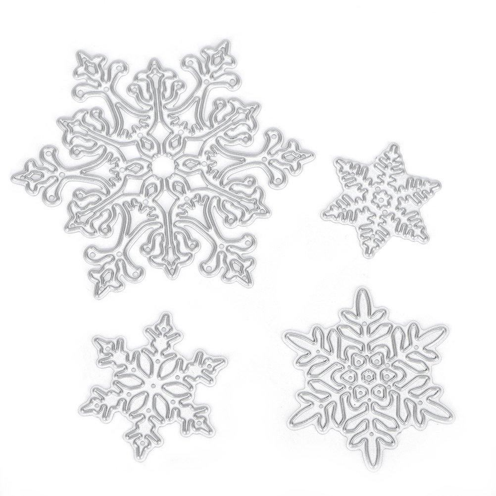 4Pcs Snowflake Shape Cutting Dies Stencils Making Decoration Tool Album Scrapbook Card DIY Better Sunny Day