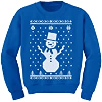 Tstars - Big Snowman Ugly Christmas Sweater Holidays Cute Youth Kids Sweatshirt
