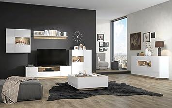 Wohnzimmer Komplett Set A Matavai 6 Teilig Farbe Weiss