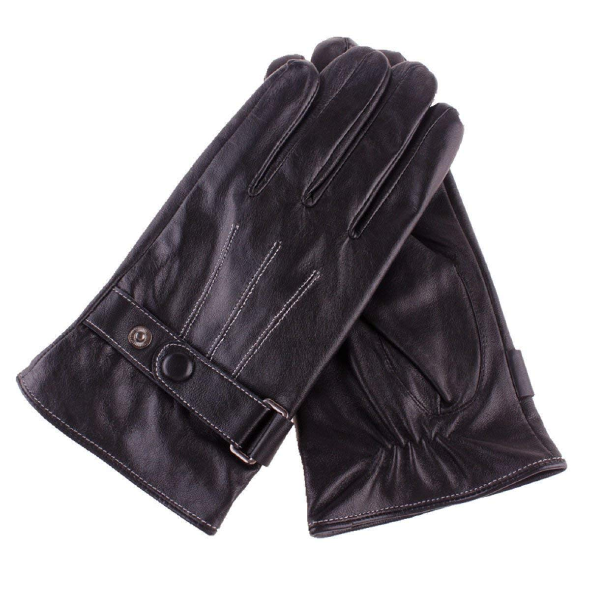 LLIND Home Gloves Touch Screen Male Fashion Practical Color : Black, Size : X-Large