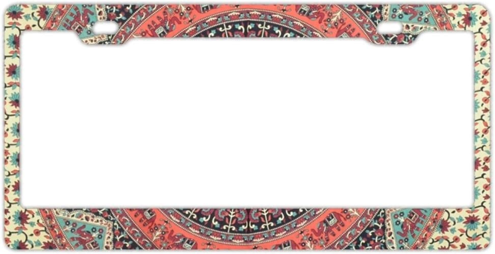 GREDBH Shining Corgi Customized License Plate Frame Tag Holder 2 Holes US Plate Covers
