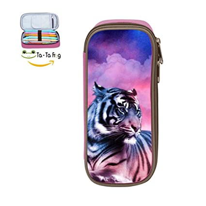 Amazon.com : Pencil Case Rosy Sky Tiger Pen Case Large ...