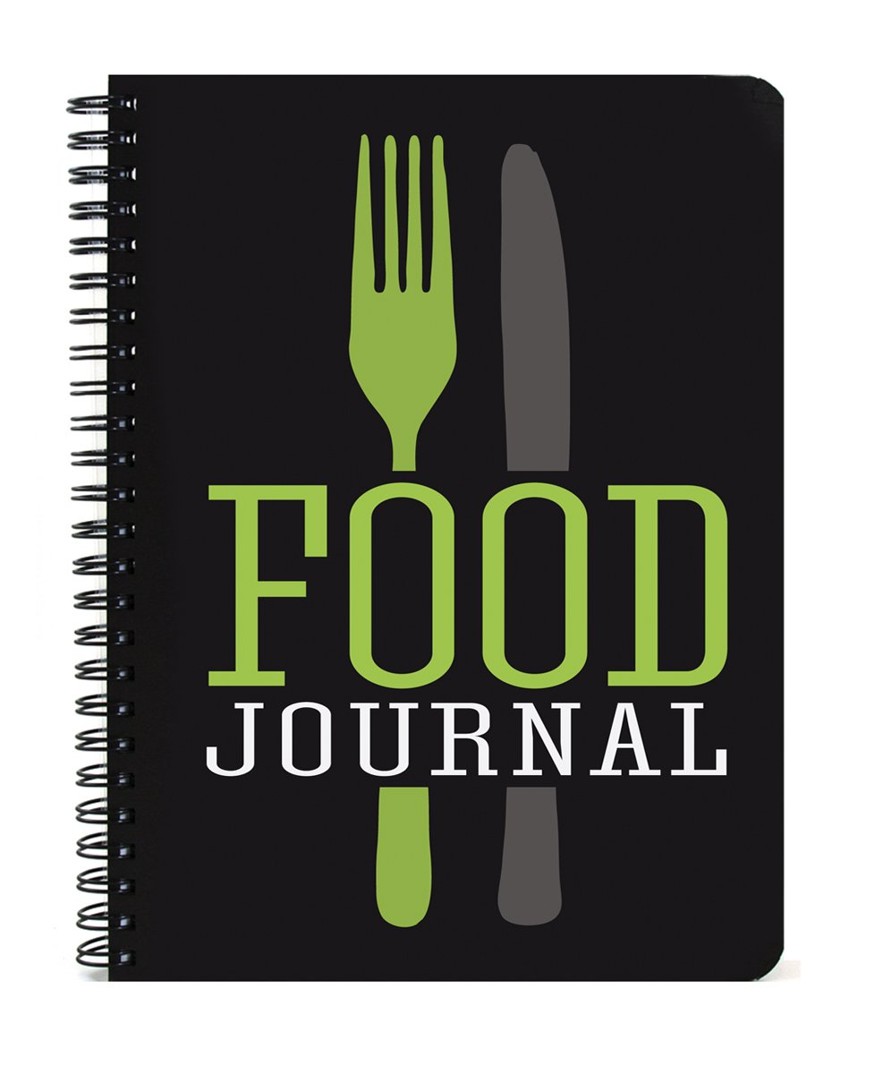 BookFactory Food Journal / Food Diary / Diet Journal Notebook, 120 pages - 3 1/2 x 5 1/4 (Pocket Sized), Durable Thick Translucent Cover, High Quality Wire-O Binding (JOU-120-M3CW-A (Food))
