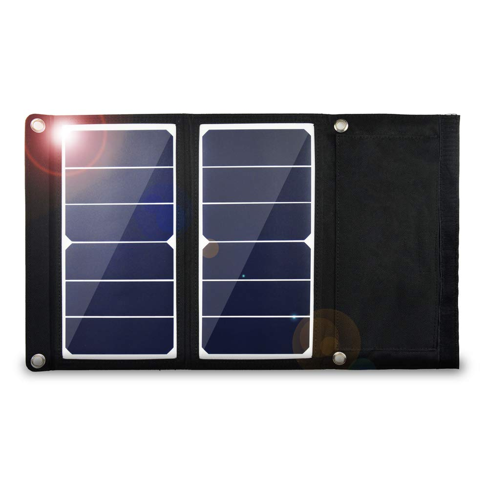 EREMOKI Solar Panel Charger,14W Solar Portable Charger,Our Ultralight 15oz Solar Panels are Built with Sunpower Flexible Solar Panels and USB Output.This Solar Phone Charger is Perfect for Hikers by EREMOKI