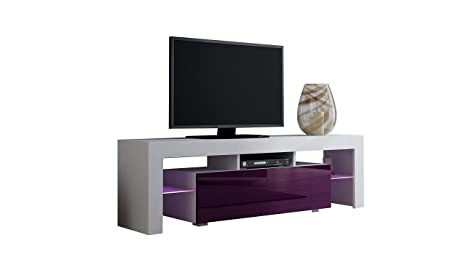 Amazon.com: Soporte de TV Milano 130/LED moderno mueble de ...