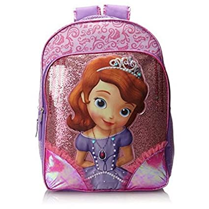 4c9f8db6e21 Image Unavailable. Image not available for. Color  Disney Sofia The First  Light-Up 16 quot  Backpack Large