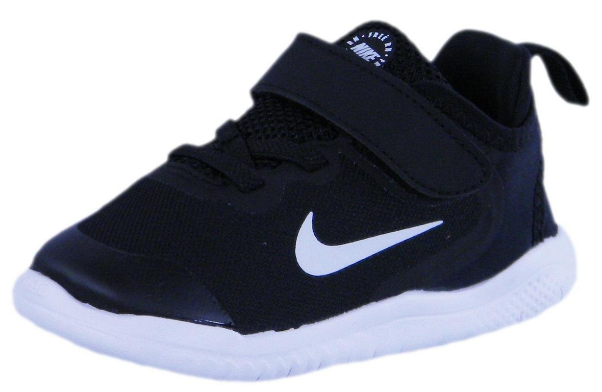 NIKE Toddler Free RN 2018 Shoes (10K, Black/White)