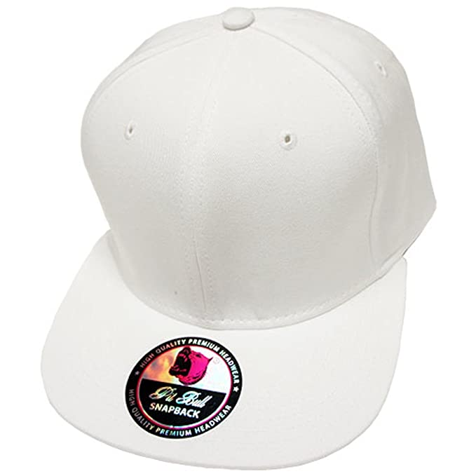 71e8752d7b1 Image Unavailable. Image not available for. Color  Plain Solid Two-Tone  Flat Bill Snapback Quality Cotton ...