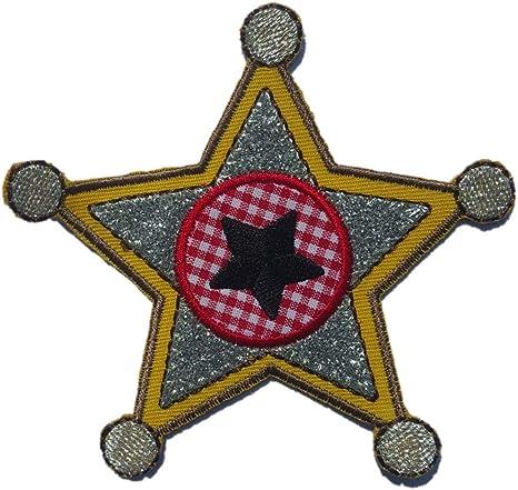 2 Parche de bordado o planchado Estrella Del Sheriff 9X10Cm Ballena 8X8Cm termoadhesivos bordados aplique para ropa con diseño de TrickyBoo Zurich Suiza por España: Amazon.es: Bebé