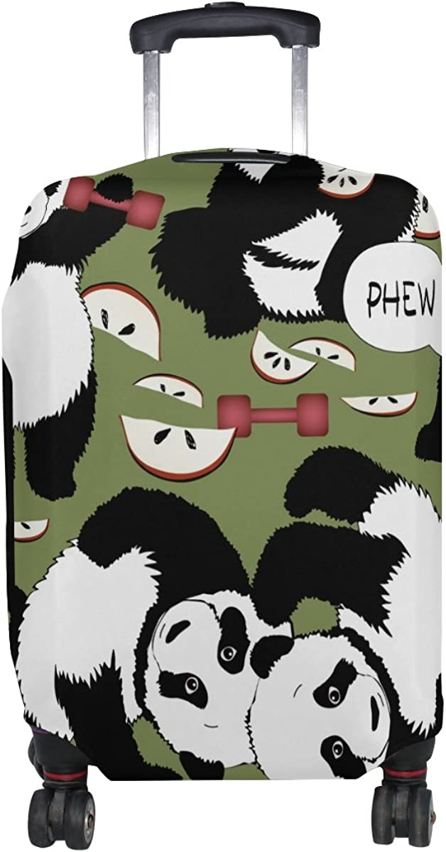 LAVOVO Panda Dumbbell Healthy Lifestyle Luggage Cover Suitcase Protector Carry On Covers