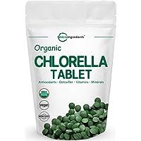 Organic Chlorella Supplement, 3000mg Per Serving, 720 Tablets (4 Months Supply), Rich in Minerals, Immune Vitamins…