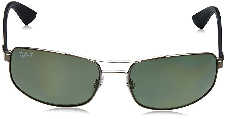 0c811d8b59ac5 Amazon.com  Ray-Ban Metal Man Sunglasses RB3527 029 9A - Matte Gunmetal  Frame Polar Dark Green Lenses 61mm Polarized  Clothing