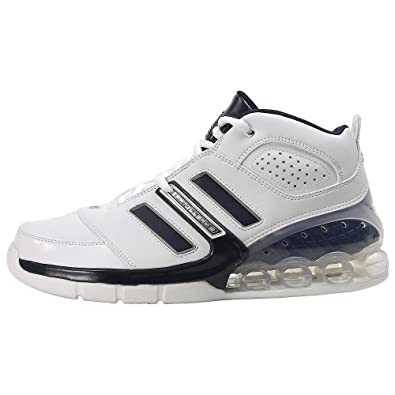 8685be612 Adidas Men s Bounce Artillery II Basketball Shoe White Silver Navy (12.5)
