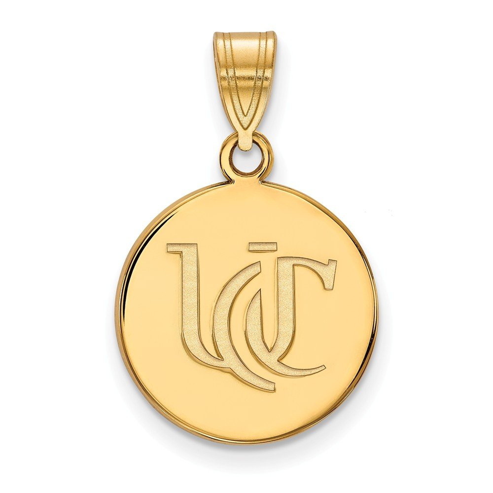 15mm x 24mm Solid 925 Sterling Silver with Gold-Toned University of Cincinnati Medium Pendant