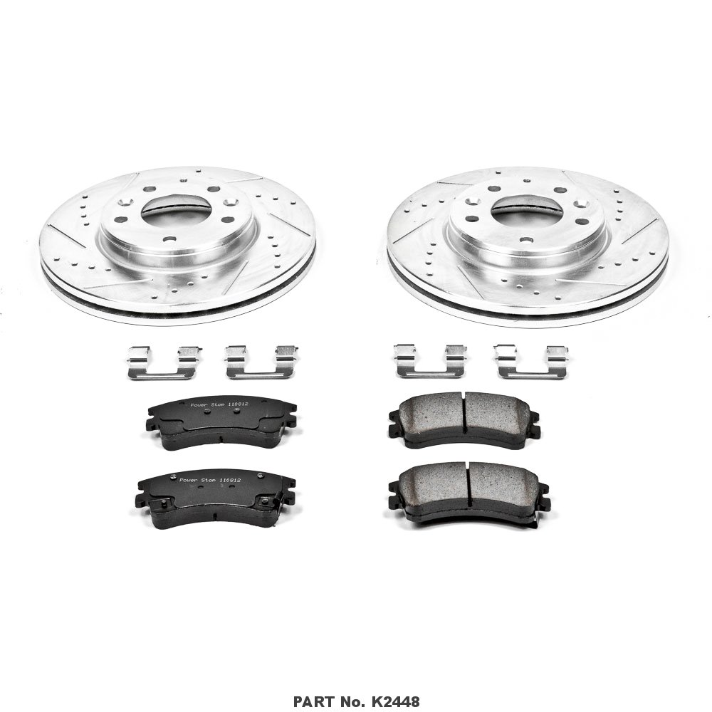 Power Stop K2316 Front Z23 Evolution Brake Kit with Drilled//Slotted Rotors and Ceramic Brake Pads