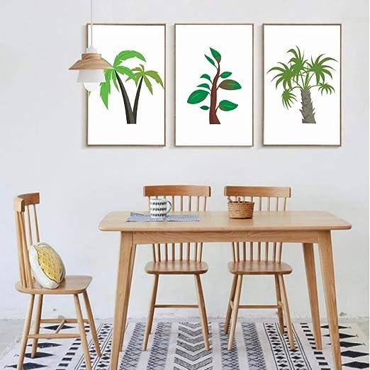 adgkitb canvas Árboles Simples Modernos 3 Piezas Pinturas ...