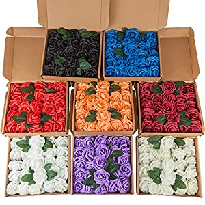 Vantency Roses Artificial Flowers, PE Foam Fake Roses for DIY Wedding Bouquets Centerpieces Bridal Shower Party Home Decorations 8