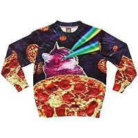 Tstars Ugly Christmas Sweater Style 3D Men Women Cat T-Rex Trump Pullover Sweatshirt