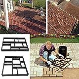 Estink Path Maker Mold,Driveway Pathmate Stone Mold Paving Concrete Stepping Stone Mould Pavement Paver,10 Grid For Sale