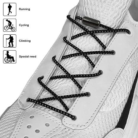 DeliverGo Cordones elásticos para Zapatos para niños y Adultos ...