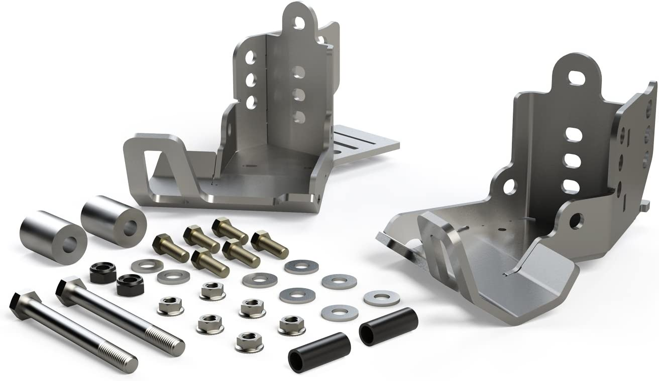 TeraFlex 36-07-01-300 Falcon JK//JKU HD Rear Shock Skid Plate Kit