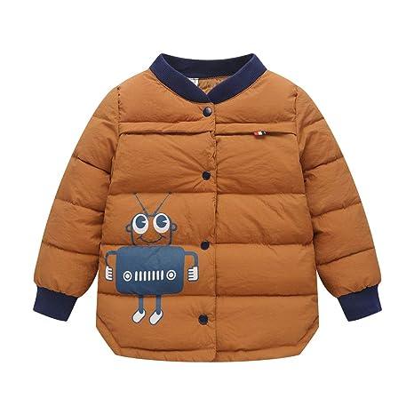 Niño Chaqueta de Plumífero Niños Niñas Invierno Chaqueta Acolchada Ligero Cálida Abrigo