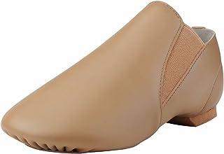 Dynadans Jazz Shoe Leather Slip On with Elastics (Big Kid/Little Kid/Toddler)