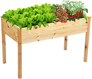 Raised Garden Beds with Legs , Elevated Planter Box for Planters Vegetables Fruits Wood Gardening Boxes Outdoor
