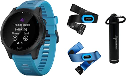 Garmin Forerunner 945 Premium GPS Running Triathlon Smartwatch with Included Wearable4U Power Pack Bundle Blue, Bundle
