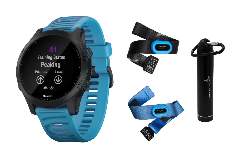 Garmin Forerunner 945 Premium GPS Running/Triathlon Smartwatch with Included Wearable4U Power Pack Bundle (Blue, Bundle) by Wearable4U