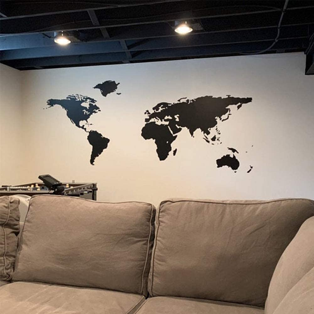 Hot World Map Home Decoration Accessories for Kids Rooms Home Decor Vinyl Decals