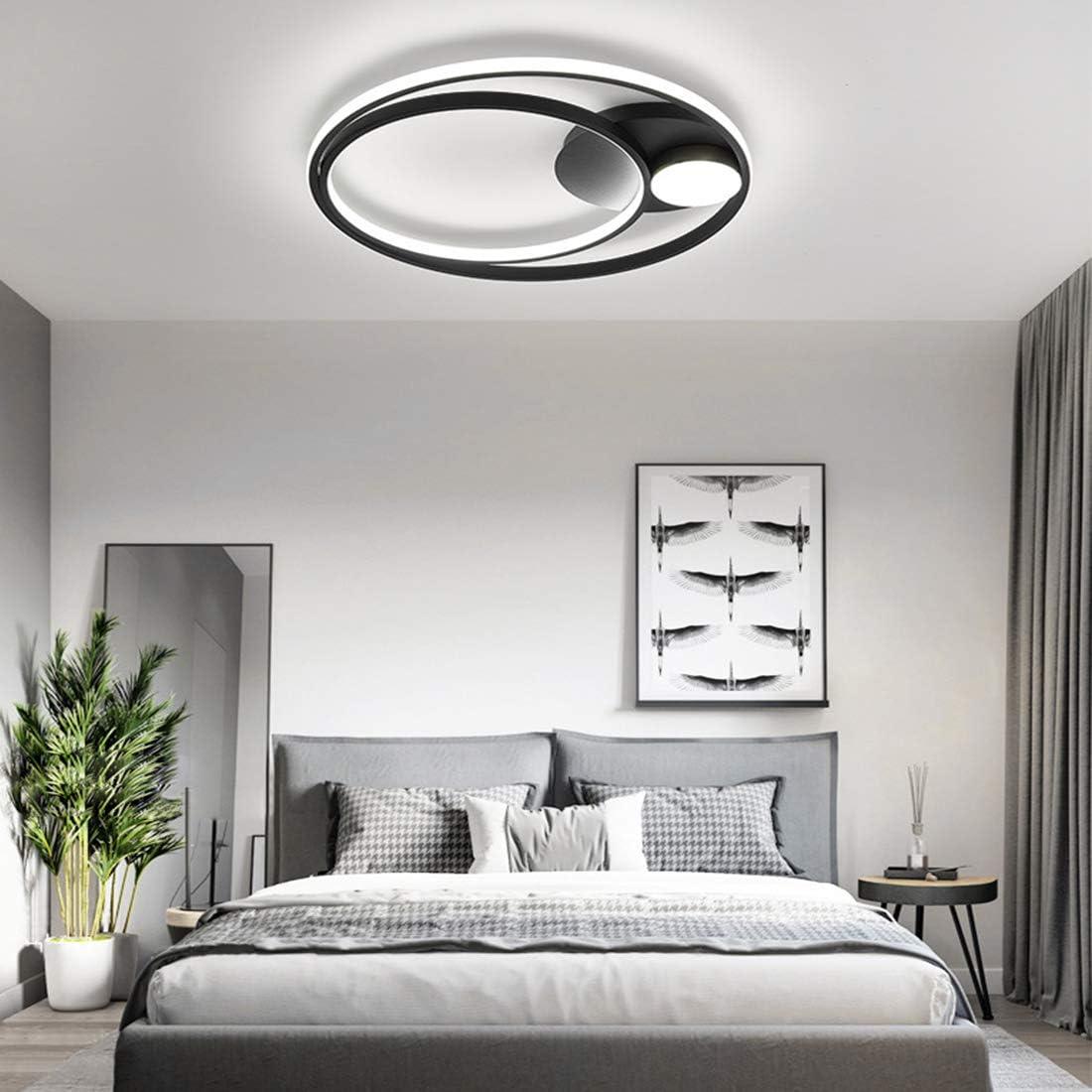 LED Bedroom Ceiling Lamp Modern Dimmable Ring Designer Ceiling
