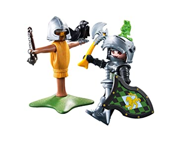 playmobil lion knight with training dummy
