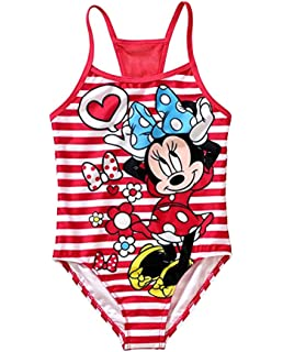 Minnie Mouse Disney Girls One Piece Bathing Suit Swim Wear