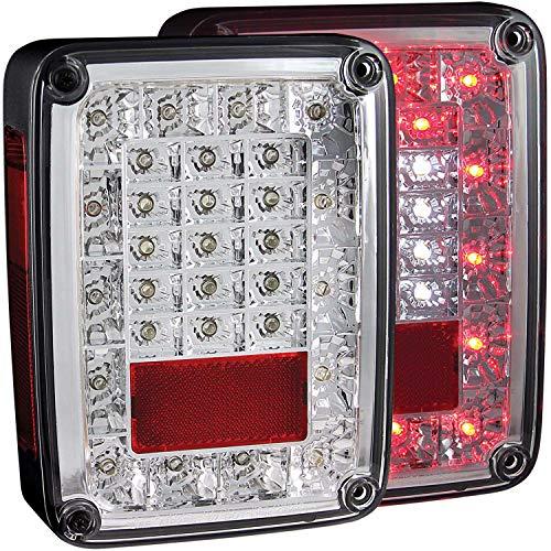 Anzo USA 311201 Chrome LED Tail Light for Jeep Wrangler