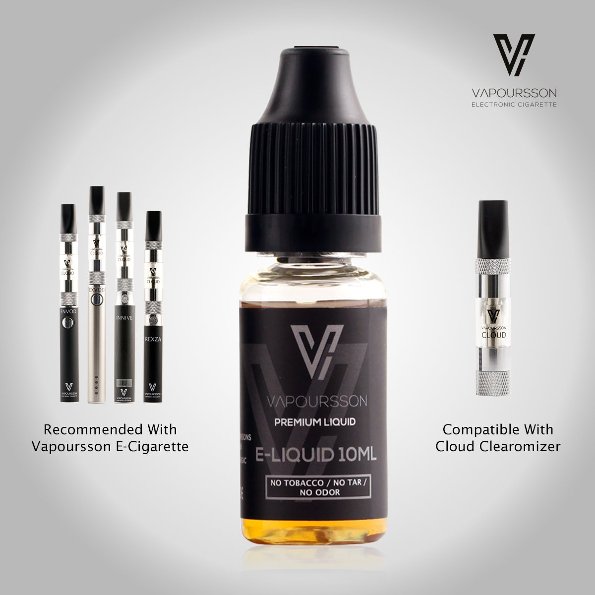 VAPOURSSON 10 ml Liquid E | Rich Tabaco | Fórmula Súper Grado - Sabor Super Strong | Con ingredientes de alta calidad | Para el cigarrillo electrónico y E ...