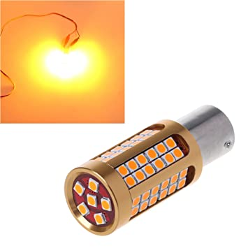 Kalttoy - Bombilla LED para intermitente de coche 1156 BA15S 3030 78SMD Canbus, color amarillo ámbar: Amazon.es: Hogar