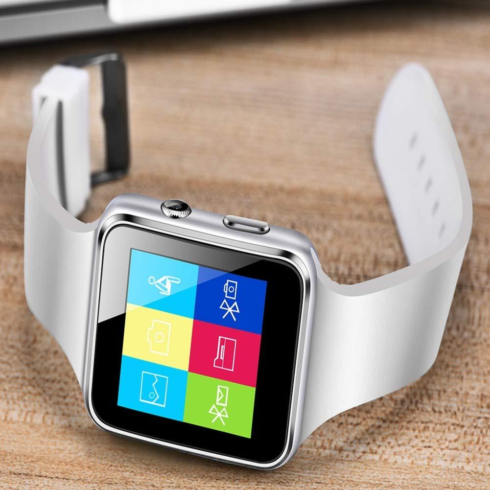 GBVFCDRT Lässige Smartwatch Männer Lässige GBVFCDRT Mode Silikonband Smart Watch Frauen Männer Sport Schrittzähler LED Stoppuhr Unterstützung SIM Call Wearable Tech 46342f