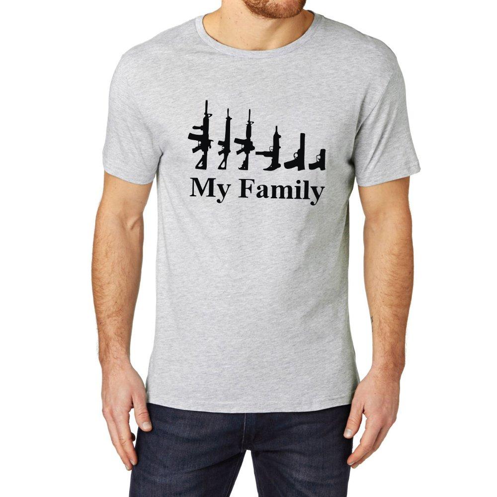 Loo Show My Family Gun Rifle Funny T Shirts Casual Tee