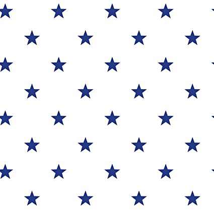 Galerie Wallcoverings Deauville G23101 White With Blue Stars Wallpaper