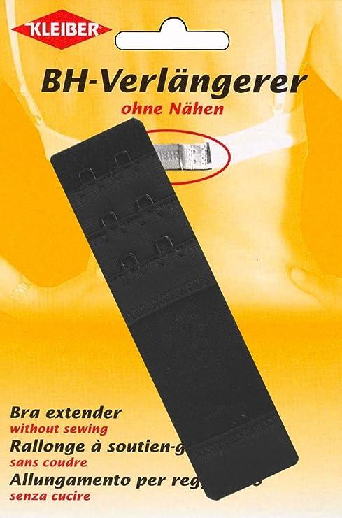 Kleiber - Alargador de sujetador con cierre de dos corchetes, 35 mm, color negro